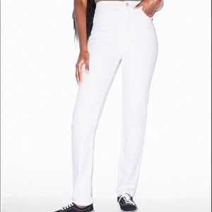 American Apparel High waist White Jeans/ Jegging